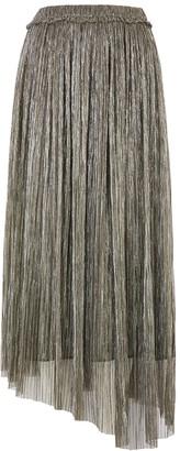 Etoile Isabel Marant Dolmenae metallic plisse midi skirt