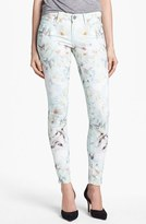 Paige 'Verdugo' Print Ultra Skinny Jeans (Grey Wind)