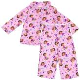AME Sleepwear Dora the Explorer Animals Coat-Style Pajamas for Toddler Girls
