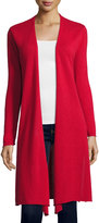 Neiman Marcus Cashmere Duster Cardigan, Red