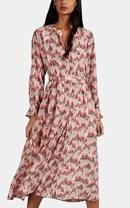 Isabel Marant Women's Lympia Graphic Stretch-Silk Shirtdress - Pink