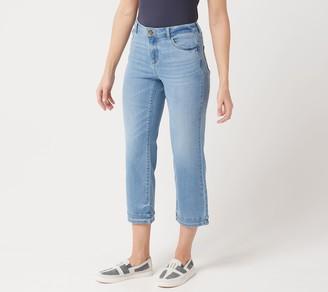 Logo by Lori Goldstein 5-Pocket Crop Straight Leg Jean w/ Hem
