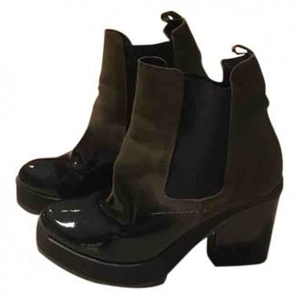 Miista Green Patent leather Heels