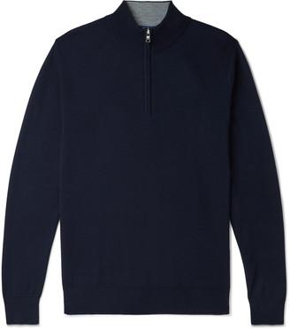 Peter Millar Slim-Fit Melange Knitted Half-Zip Sweater