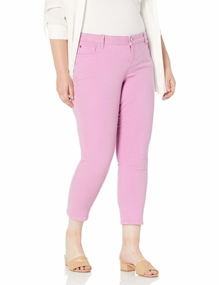 SLINK Jeans Women's Plus Size Straight Color Ankle