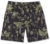 Desmond & Dempsey - Printed Cotton Pyjama Shorts