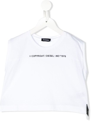 Diesel Embroidered Logo Cropped Top