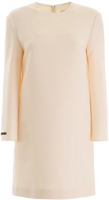 Valentino Embroidered Slogan Dress