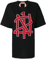 No.21 printed boyfriend T-shirt
