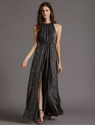Halston MOCK NECK JERSEY DRESS