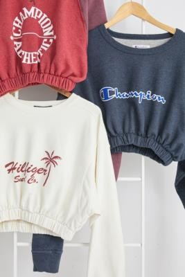 Urban Renewal Vintage Remade From Vintage Bubble Hem Branded Sweatshirt - Assorted M/L at Urban Outfitters