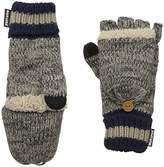 Muk Luks Men's Sock Flip Mitten-Dark Grey
