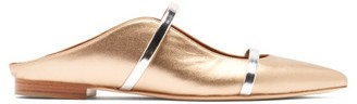 Malone Souliers Maureen Backless Leather Flats - Womens - Gold
