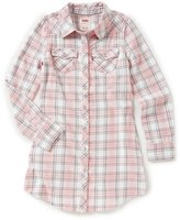 Levi's s Big Girls 7-16 Yarn-Dyed Plaid Western Dress