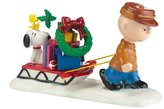 D56 Department 56 Peanuts Ornament is Done Figurine, 2.36-Inch