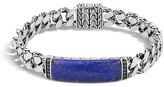 John Hardy Gourmette Classic Chain Men's Bracelet with Lapis