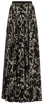 Giambattista Valli Floral-print pleated silk maxi skirt