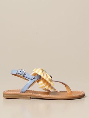 Simonetta Leather Sandal With Bow
