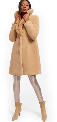 New York & Co. Teddy Bear Coat