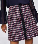 LOFT Tweed Button Front Skirt
