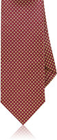 Drakes Drake's Men's Micro-Medallion Silk Necktie-RED