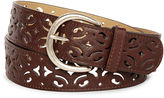JCPenney RELIC Relic Scroll Perforated Belt