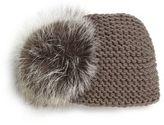 Jennifer Behr Fox Fur Pom-Pom & Cashmere Kerchief
