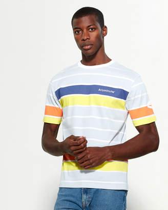 Arcminute Color Block Stripe Short Sleeve Tee