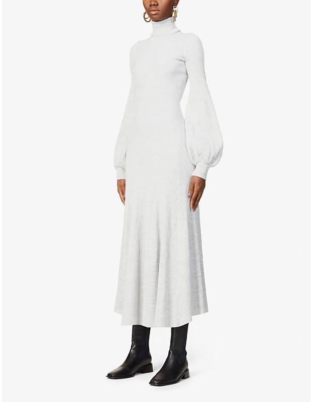 Thumbnail for your product : ANNA QUAN Amalia cotton-knit midi dress