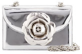Oscar de la Renta Rose Metallic Chain Clutch Bag