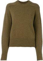 Isabel Marant 'Finn' ribbed knit sweater - women - Camel Hair/Wool/Polyimide - 38