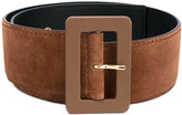 Marni large buckle belt - women - Leather/Suede - 75