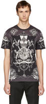 Dolce & Gabbana Grey and Black Crest T-Shirt