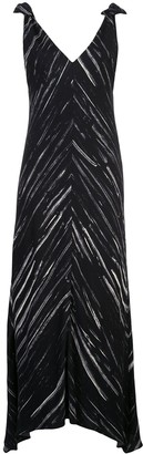 Proenza Schouler White Label Abstract Print Mid-Length Dress
