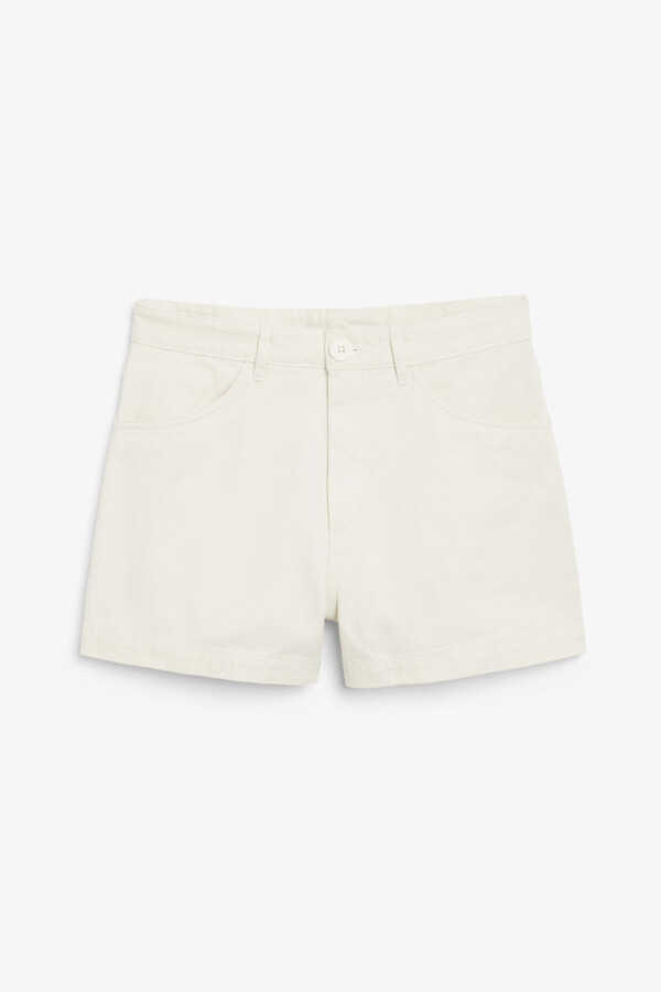 Thumbnail for your product : Monki High waisted cotton shorts