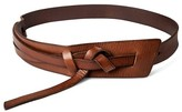 Mossimo Women's Wide Messy Knot Belt Brown