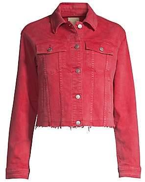 Joe's Jeans Women's Crop Raw-Edge Denim Jacket