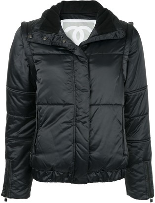 Chanel Pre Owned High Collar Padded Jacket