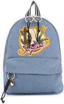 See by Chloe applique detail denim backpack