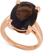 Macy's Smoky Quartz Statement Ring (9-1/2 ct. t.w.) in 14k Rose Gold
