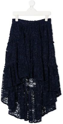 MonnaLisa TEEN floral lace long skirt