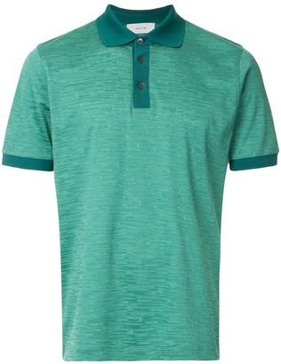 Cerruti Jacquard Effect Polo Shirt