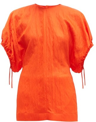 Jil Sander Dolman-sleeve Wrinkled-twill Top - Womens - Orange