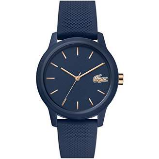 Lacoste Womens Analogue Classic Quartz Watch with Silicone Strap 2001067,Blue
