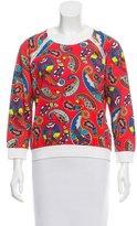MSGM Paisley Print Pullover Sweatshirt