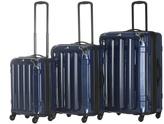 Navy Triad Spinner Three-Piece Luggage Set