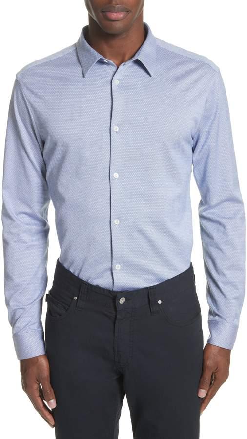 Emporio Armani Trim Fit Yarn Dyed Sport Shirt