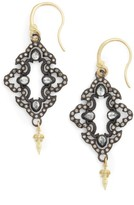 Armenta Women's Old World Open Scroll Drop Earrings