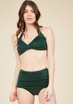 Esther Williams Bathing Beauty Two-Piece Swimsuit in Emerald in 4