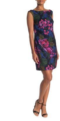 Trina Turk Keira Cap Sleeve Floral Print Dress